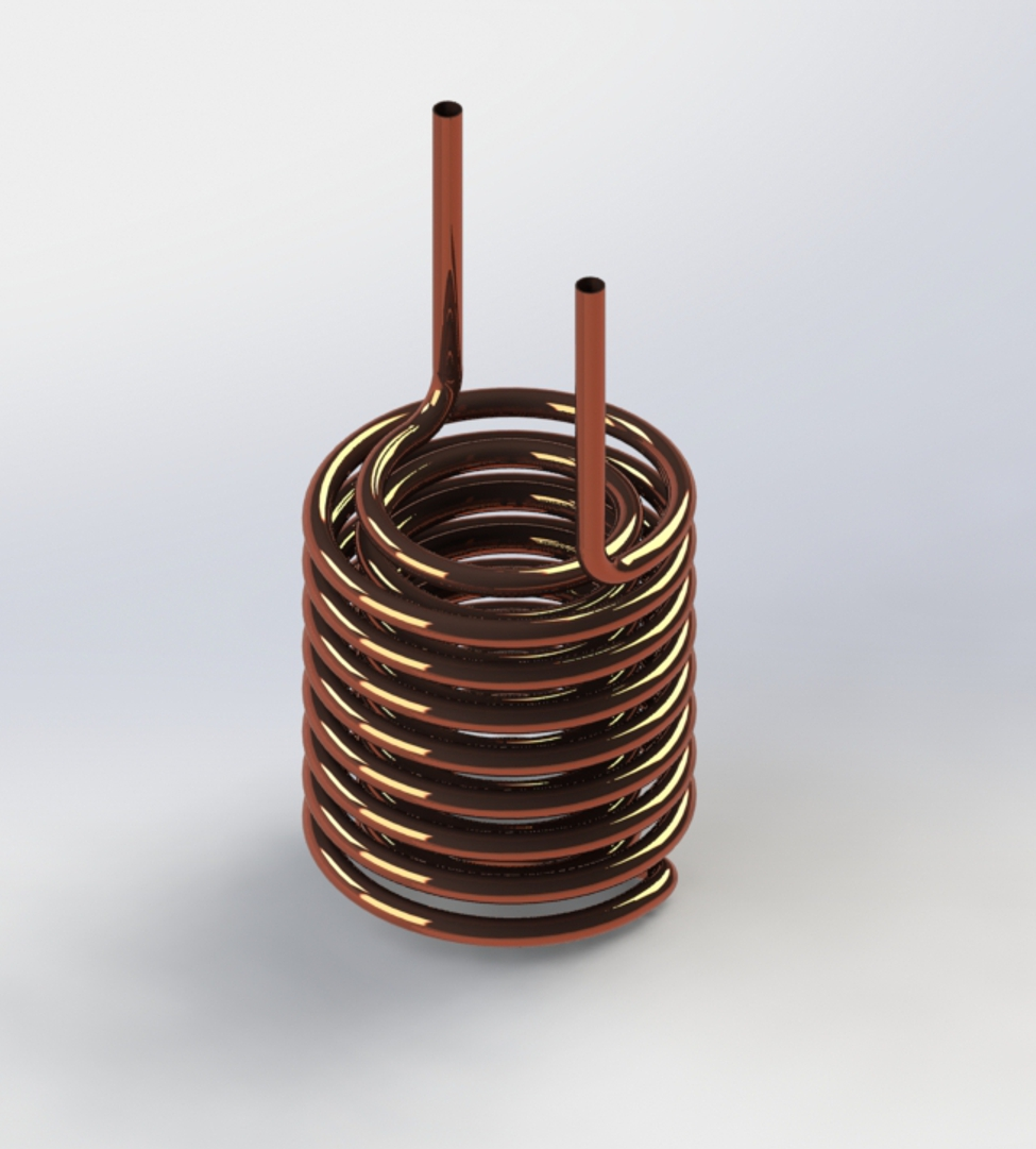 Photo of Helical Coil With Tangent and Perpendicular Leads