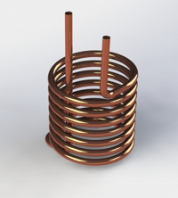 Photo of Helical Coil with Inside Antenna Leads