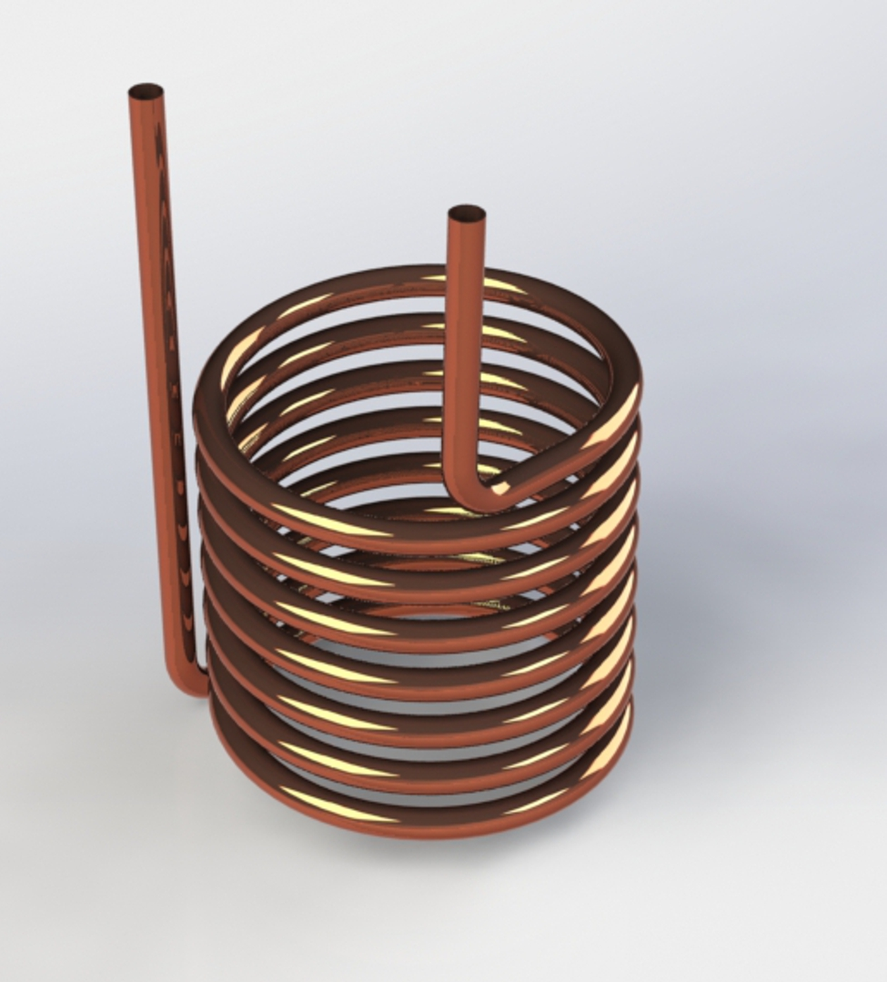 Photo of Helical Coil With Outside Antenna Leads